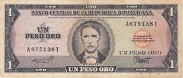 BILLETE DE LA REPUBLICA DOMINICANA DE 1 PESO ORO DEL AÑO 1975 DE DUARTE (BANKNOTE) RARO - Dominikanische Rep.