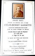 FAIRE PART DE DECES MEMENTO MORI 71 CHALON GENEALOGIE CHANOINE ELIE BENOIT GARDETTE ST VINCENT DE CHALON  1878  PHOTO - Décès