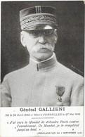 GENERAL GALLIENI - Weltkrieg 1914-18