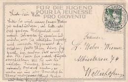 Zürich-Luzern-Zürich - Bahnstempel Auf Ansichtskarte - PJ-Frankatur - 1913         (00507) - Ferrocarril