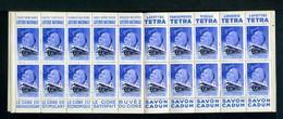 Carnet De 1939  - Tuberculose - Antituberculeux - N° 39S*Indochine*9  Banania Tétra Cidre Savon Cadum-Loterie-Simmons - Blocks & Sheetlets & Booklets