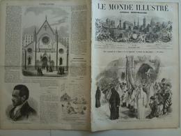 Le Monde Illustré 28 Novembre 1857 33 Fièvre Jaune Lisbonne Paris Nouveau Rue De Rivoli Fêtes Indoues Castel Salorno - Livres, BD, Revues