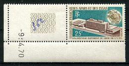 AFARS ET ISSAS 1970 N° 362 ** Neuf MNH Superbe UPU U.P.U. Union Postale Universelle - Afars Et Issas (1967-1977)