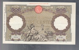 100 Lire Capranesi Roma Guerriera 19 08 1941 Fascio Roma Q.spl  LOTTO 3250 - 100 Lire