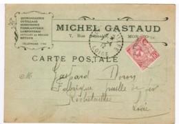 P808 - Carte Publicitaire Michel Gastaud (Monaco) Pour Rochetaillée (42) - Rochetaillee