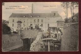 Voyenne Usine électrique En Construction Ouvriers * Aisne 02250 * Crépeaux  Dépositaire  *  électricité - Other Municipalities