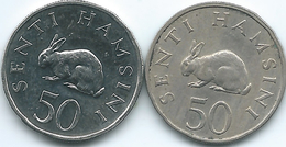 Tanzania - 50 Senti - 1966 - KM3 & 1990 - KM26 - Tansania