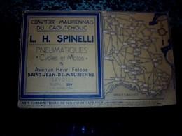 Publicité Carte Cursométrique Sud De France Comptoir Mauriennais Du Caoutchouc L.H. Spinelli à St Jean De La Maurienne - Dépliants Touristiques