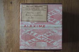 """BOITE EN CARTON AVEC FLACON """"ALEXIME"""" DES LABORATOIRES JOULIE AVEC FLACON EN VERRE ENCORE A MOITIE PLEIN - BEL ETAT - Boxes"""