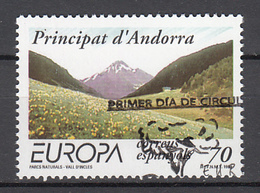 Spaans Andorra Europa Cept 1999 Gestempeld Fine Used - 1999