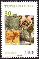 France - Timbre De Service N° 171 ** Conseil De L'Europe - 30 Ans D'Itinéraires Culturels. Lascaux, Olives, Etc... - Ungebraucht