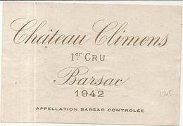 CHATEAU CLIMENS . 1ER CRU BARSAC - Bordeaux