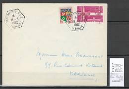 Algerie - Lettre  - Cachet Hexagonal BENI MESTER SAS -  Marcophilie - Algeria (1924-1962)