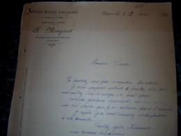 Facture Lettre épicerie Quincaillerie Mercerie A.Mouysset à Naucelle Aveyron Année1920 - Alimentaire