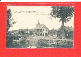 80 CAPPY Cpa Animée Pont Sur Le Canal Et Eglise    1242 Edit Baudiniere - Autres Communes