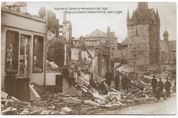 HERVE : Ruines De Guerre - Rue De La Station - Herve