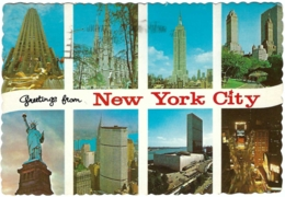 """USA - NY - Greetings From New York City """"The Wonder City"""" - Multivues / Multiview / Mehrbildkarte (8) - (circ. 1976) - Multi-vues, Vues Panoramiques"""