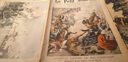 P.J 05/ATTENTAT CONTRE ROI ESPAGNE PARIS /RENCONTRE DES FLOTTES RUSSES ET JAPONAISES BATAILLE TSOUSHIMA - 1900 - 1949