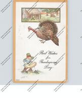 THANKSGIVING / Erntedankfest, Truthahn, Präge-Karte, 1915 - Thanksgiving