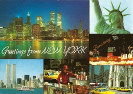 USA - NY - Greetings From New York : New York City  - Multivues / Multiview / Mehrbildkarte (6) - (circ. 1991) - Multi-vues, Vues Panoramiques
