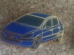PINS PEUGEOT 307 BLEU FONCE / ARGENT GROS PINS 5X3 CM - Peugeot