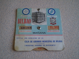 Disque De Stationnement De Bilbao,manana & Tarde, Pub Caja De Ahorros, Caisse D'épargne De Bilbao - Voitures