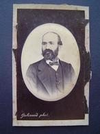 PHOTOGRAPHIE GALISSARD - TARASCON Ancienne : PORTRAIT D' HOMME 1873 - Personnes Anonymes