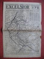 Journal EXCELSIOR 22 Août 1918 LE FRONT Albert Montdidier Soissons Thiepval Moreuil Ribécourt Ressons Bray Sur Somme - 1914-18