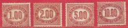 Italie Service N°5 à 8 Carmin 1875 (*) - 1861-78 Vittorio Emanuele II