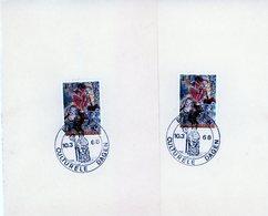 Cob 1426 (2x) Avec Cachet Spécial Eisden (avec Dessin Saint-Remi) - Matasellos De Cortesía