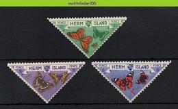 Ncz171 FAUNA VLINDERS INSECTS BUTTERFLIES SCHMETTERLINGE MARIPOSAS PAPILLONS SCOTLAND HERM ISLAND 1954 ONG/MH - Butterflies