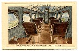 RC 17311 FRANCE CARTE PUBLICITAIRE AIR FRANCE REPRÉSENTANT UN AVION CABINE DU BREGUET WIBAULT ANNÉE 30  - NEUVE - Postmark Collection (Covers)