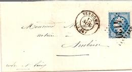 14---Loir Et Cher    VENDOME Pour Amboise   GC  C.15  20c Napoléon - 1849-1876: Période Classique