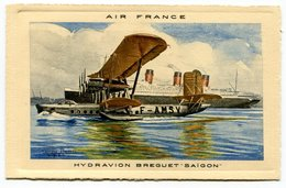 RC 17314 FRANCE CARTE PUBLICITAIRE AIR FRANCE REPRÉSENTANT UN HYDRAVION BREGUET SAIGON ANNÉE 30  - NEUVE - Marcophilie (Lettres)
