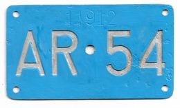 Velonummer Appenzell Ausserrhoden AR 54 - Placas De Matriculación