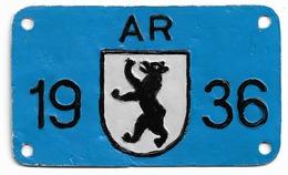 Velonummer Appenzell Ausserrhoden AR 36 - Placas De Matriculación