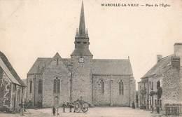 53 Marcillé La Ville Place De L' Eglise Cachet 1909 Marcille - France