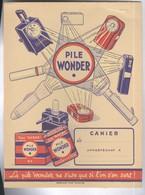 Protège Cahier Pile Wonder - La Pile Wonder Ne S'use Que Si L'on S'en Sert - Blotters