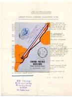 RC 17317 FRANCE 1937 CARTE AIR FRANCE VOL ALLEZ RETOUR FRANCE - CHILI + COURRIER DE SOUSCRIPTION - Luchtpost