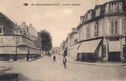 18 . SAINT AMAND MONTROND . Rue Nationale . - Saint-Amand-Montrond