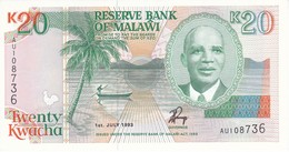 BILLETE DE MALAWI DE 20 KWACHA DEL AÑO 1993 SIN CIRCULAR-UNCIRCULATED (BANKNOTE) - Malawi