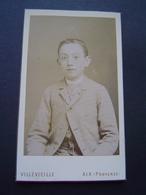 PHOTOGRAPHIE VILLEVIEILLE - AIX EN PROVENCE Ancienne : PORTRAIT D' ENFANT - Anonymous Persons