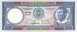 BILLETE DE GUINEA ECUATORIAL DE 500 EKUELE DEL AÑO 1975 SIN CIRCULAR - UNCIRCULATED  (BANKNOTE) - Equatoriaal-Guinea