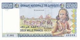 BILLETE DE DJIBOUTI DE 2000 FRANCS DEL AÑO 1979 SIN CIRCULAR - UNCIRCULATED (BANKNOTE) - Djibouti