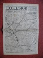 Journal EXCELSIOR 8 Septembre 1918 SAINT GOBAIN CHEMIN DES DAMES LAFFAUX TERGNIER FLAVY LE MARTEL ANIZY COUCY ROISEL - 1914-18