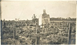PHOTO FRANÇAISE - CIMETIERE ALLEMAND A BUSSY PRES DE CRISOLLES - NOYON OISE - GUERRE 1914 1918 - 1914-18