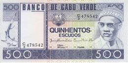 BILLETE DE CABO VERDE DE 500 ESCUDOS DEL AÑO 1977 SIN CIRCULAR - UNCIRCULATED  (BANKNOTE) - Cap Verde