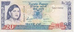 BILLETE DE MAURITIUS DE 20 RUPIAS DEL AÑO 1985  (BANKNOTE) - Mauritius