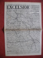 Journal EXCELSIOR 27 Septembre 1918 ARGONNE VARENNES VAUQUOIS CHEPPY CUISY GERCOURT BETHINCOURT NANTILLOIS MALANCOURT - 1914-18