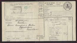 1942 Vrachtbrief / Lettre De Voiture Met Stempels ANTWERPEN / ANVERS SCHIJNPOORT En ESSCHEN ; Zie 2 Scans ! - 1895-1913